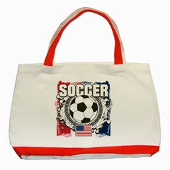 Soccer United States Of America Classic Tote Bag (red) by MegaSportsFan