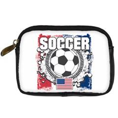 Soccer United States Of America Digital Camera Leather Case by MegaSportsFan