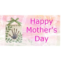 Mom And Child s Hand Print Mother s Day Card By Kim Blair   Mom 3d Greeting Card (8x4)   8at64mnmzwt1   Www Artscow Com Front