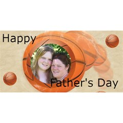 Basketball Father By Kim Blair   #1 Dad 3d Greeting Card (8x4)   T02a6h3tgnvr   Www Artscow Com Front