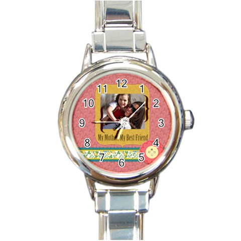Mothers Day By Mom   Round Italian Charm Watch   Qnwr60702av2   Www Artscow Com Front