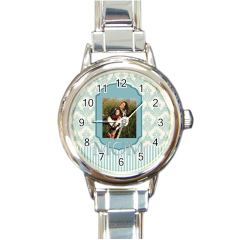 Mothers Day By Mom   Round Italian Charm Watch   Xkbcm6vzbla1   Www Artscow Com Front