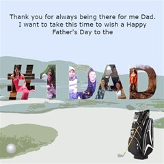 Golf Father s Day Card By Kim Blair   #1 Dad 3d Greeting Card (8x4)   0izoe1sm3ux5   Www Artscow Com Inside