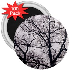 Tree 3  Button Magnet (100 Pack) by DmitrysTravels