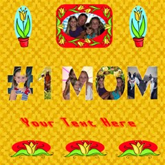 #1 Mom Card 2 By Joy Johns   #1 Mom 3d Greeting Cards (8x4)   5pleabn0jyze   Www Artscow Com Inside