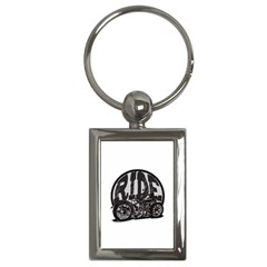 Ride Vintage Motorcycles Key Chain (rectangle)