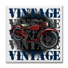 Vintage Motorcycle Multiple Text Shadows Face Towel by creationsbytom