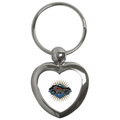 Classic Vintage Motorcycle Key Chain (heart)