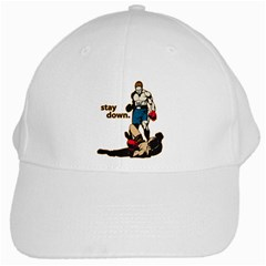 Stay Down Boxing White Cap by MegaSportsFan