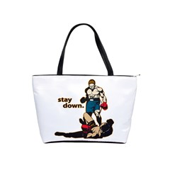 Stay Down Boxing Classic Shoulder Handbag by MegaSportsFan