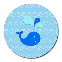 Playing In The Waves 8  Mouse Pad (Round)