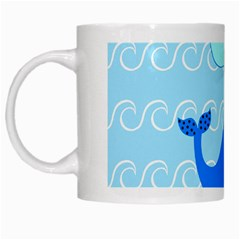 Playing In The Waves White Coffee Mug by StuffOrSomething