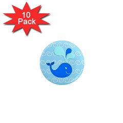 Playing In The Waves 1  Mini Button Magnet (10 Pack) by StuffOrSomething