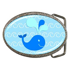 Playing In The Waves Belt Buckle (oval) by StuffOrSomething