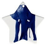 Blue Elephant Ornament (Star)