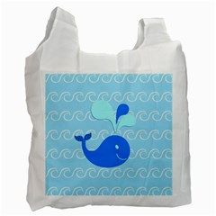 Playing In The Waves White Reusable Bag (two Sides) by StuffOrSomething