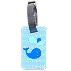 Playing In The Waves Luggage Tag (one Side) by StuffOrSomething