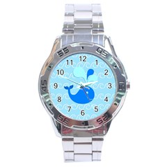 Playing In The Waves Stainless Steel Watch by StuffOrSomething