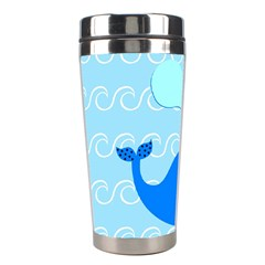 Playing In The Waves Stainless Steel Travel Tumbler by StuffOrSomething