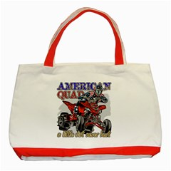 American Quad Classic Tote Bag (red) by MegaSportsFan
