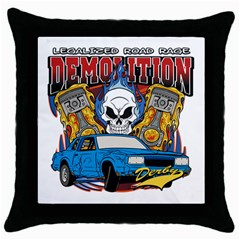 Demolition Derby Throw Pillow Case (black) by MegaSportsFan