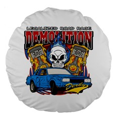 Demolition Derby 18  Premium Round Cushion  by MegaSportsFan