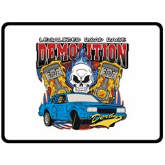 Demolition Derby Fleece Blanket (extra Large) by MegaSportsFan