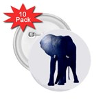 Blue Elephant 2.25  Button (10 pack)