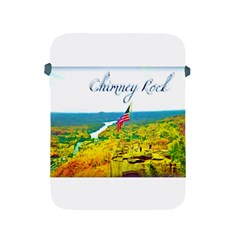 Chimney Rock Overlook Air Brushed Apple Ipad Protective Sleeve by Majesticmountain