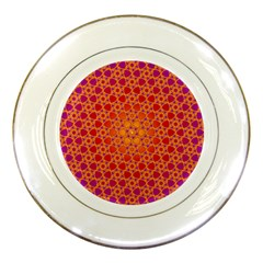 Radial Flower Porcelain Display Plate by SaraThePixelPixie