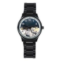 Atlantic Ocean Sport Metal Watch (black) by DmitrysTravels