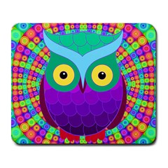 Groovy Owl Large Mouse Pad (rectangle)