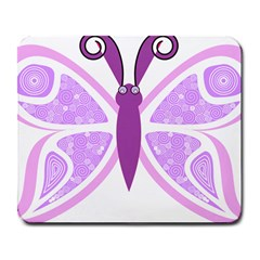 Whimsical Awareness Butterfly Large Mouse Pad (rectangle) by FunWithFibro