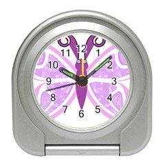 Whimsical Awareness Butterfly Desk Alarm Clock by FunWithFibro