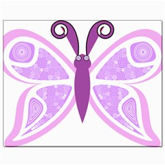 Whimsical Awareness Butterfly Canvas 8  X 10  (unframed) by FunWithFibro
