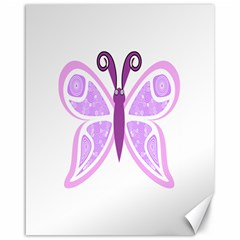 Whimsical Awareness Butterfly Canvas 16  X 20  (unframed) by FunWithFibro