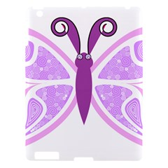 Whimsical Awareness Butterfly Apple Ipad 3/4 Hardshell Case by FunWithFibro