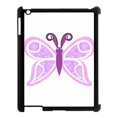 Whimsical Awareness Butterfly Apple Ipad 3/4 Case (black) by FunWithFibro