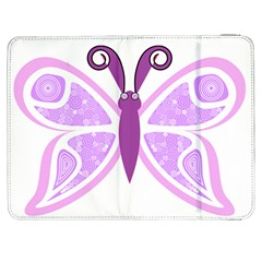 Whimsical Awareness Butterfly Samsung Galaxy Tab 7  P1000 Flip Case by FunWithFibro