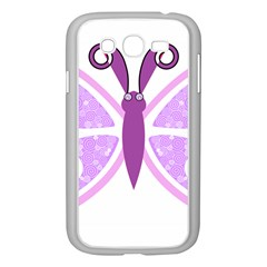 Whimsical Awareness Butterfly Samsung Galaxy Grand Duos I9082 Case (white) by FunWithFibro