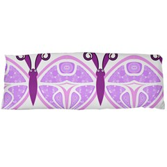 Whimsical Awareness Butterfly Body Pillow (dakimakura) Case (two Sides) by FunWithFibro
