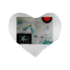Neutrino Gravity, 16  Premium Heart Shape Cushion  by creationtruth