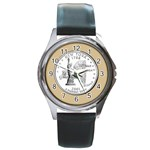 NEW YORK GOLD Round Metal Watch