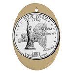 NEW YORK GOLD Ornament (Oval)