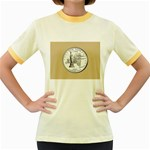 NEW YORK GOLD Women s Fitted Ringer T-Shirt