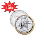 NEW YORK GOLD 1.75  Button (10 pack)