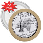 NEW YORK GOLD 3  Button (100 pack)