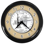 NEW YORK GOLD Wall Clock (Black)