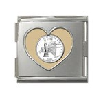 NEW YORK GOLD Mega Link Heart Italian Charm (18mm)