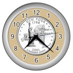 NEW YORK GOLD Wall Clock (Silver)